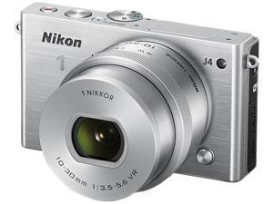 "Nikon 1 J4 27685 Gray 18.4MP 3.0"" 1037K LCD Camera with 10-30mm lens"