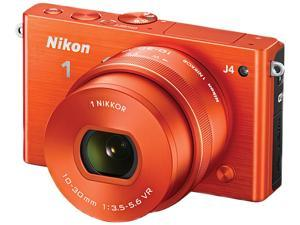 """Nikon 1 J4 27686 Red 18.4MP 3.0"""" 1037K LCD Camera with 10-30mm lens"""