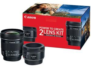 Canon 0570C010 50mm f/1.8 and 10-18mm Portrait & Travel 2-Lens Kit""