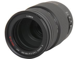Panasonic H-FS100300 Lumix G VARIO 100-300mm / F4.0-5.6 / MEGA O.I.S. Lens Black