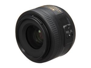 Nikon 2183 SLR Lenses 35mm f/1.8 AF-S DX G 52mm Lens Black