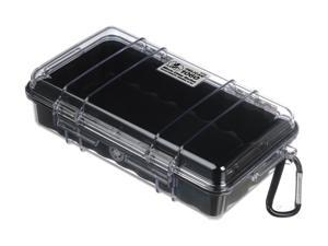 PELICAN 1060-025-100 Blue Micro Case with Clear Lid and Carabineer