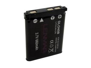 LENMAR DLO-40B 660 mAh Li-Ion Battery For OLYMPUS Digital Cameras