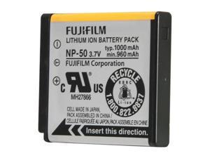 FUJIFILM NP-50 1-Pack 1000mAh Li-Ion Rechargeable Battery