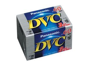 Panasonic AYDVM60EJ3P Mini-DV Tape - 3 Pack