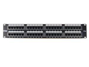 "TRENDnet TC-P48C5E 48-Port CAT 5e RJ-45 UTP 19"" Rack Mount Patch Panels"