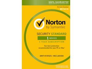 Symantec Norton Security with Antivirus Standard - 1 Device [Key Card]