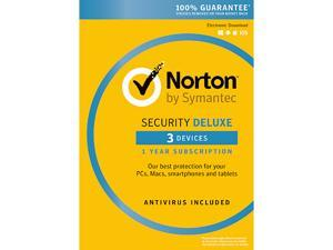 Symantec Norton Security with Antivirus Deluxe 3 Devices + Norton Utilities Bundle [Key Card]