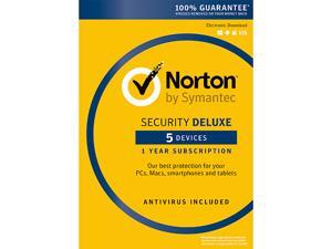 Symantec Norton Security Deluxe with Antivirus for 5 Devices (1-Year) for Free