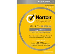 Symantec Norton Security with Antivirus Premium - 10 Devices