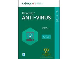 Kaspersky Anti-Virus 2016 - 1 PC (Key Card)