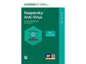 Kaspersky Anti-Virus 2017 - 3 PCs (Key Card)