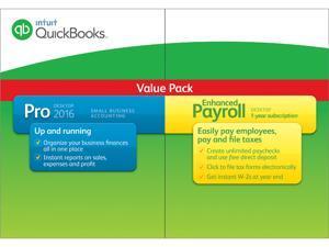 Intuit QuickBooks Pro 2016 w/Enhanced Payroll 2016