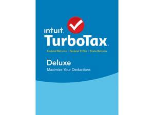 Intuit TurboTax Deluxe 2015 Fed + State + Efile Tax Software
