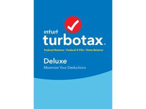 Intuit TurboTax Deluxe 2016 Fed + State + Efile Tax Software
