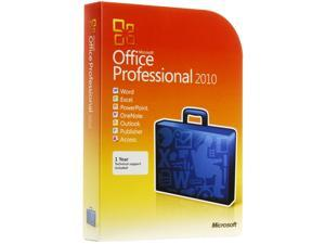 Microsoft Office Professional 2010 Product Key Card (No Media)