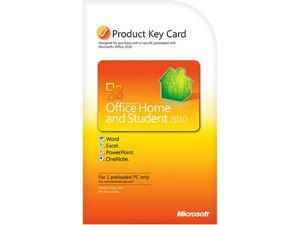 Microsoft Office 2010 Home and Student Product Key Card (no media)