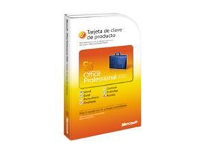Microsoft Office Pro 2010 Spanish PC Attach Key PKC Microcase
