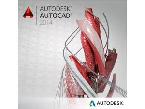 Autodesk AutoCAD 2014 Upgrade From 1 to 6 Previous Versions (2013 - 2008) for PC - Includes 1 year Autodesk Subscription