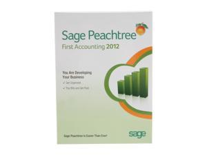 Sage software Peachtree First Accounting 2012