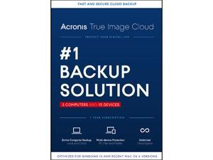 Acronis True Image Cloud 2016 - 5 PCs & 15 Devices
