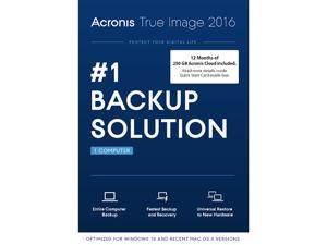 Acronis True Image 2016 w/ 250 GB Cloud Storage
