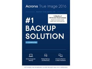 Acronis True Image 2016 w/ 1TB Cloud Storage