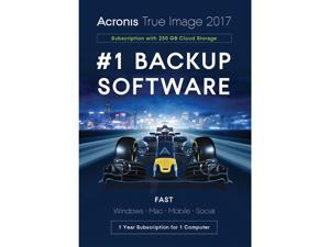Acronis True Image Subscription 1 Computer + 250GB Cloud Storage - 1 Year - Download