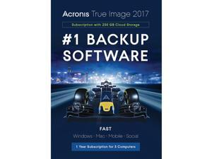 Acronis True Image Subscription 3 Computer + 250GB Cloud Storage - 1 Year - Download