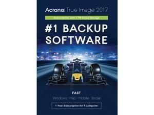 Acronis True Image Subscription 1 Computer + 1TB Cloud Storage - 1 Year - Download