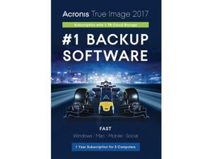 Acronis True Image Subscription 3 Computer + 1TB Cloud Storage - 1 Year - Download