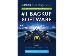 Acronis True Image Subscription 5 Computer + 1TB Cloud Storage - 1 Year - Download