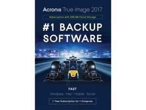 Acronis True Image 2017 - 1 Device + 250GB Cloud Storage