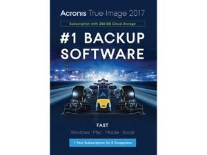 Acronis True Image 2017 - 5 Devices + 250GB Cloud Storage