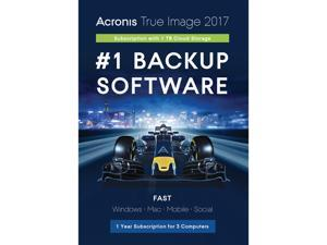 Acronis True Image 2017 - 3 Devices + 1TB Cloud Storage - 1 Year subscription