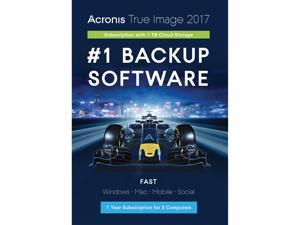 Acronis True Image 2017 - 5 Devices + 1TB Cloud Storage