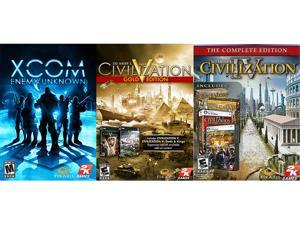 Firaxis Complete Pack (XCOM: Enemy Unknown + Civilization V Gold + Civilization IV Complete) [Online Game Codes]