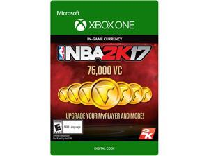 NBA 2K17: 75,000 VC Xbox One [Digital Code]
