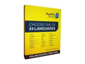 Rosetta Stone 12 Month Online Access - 24 Languages, select one