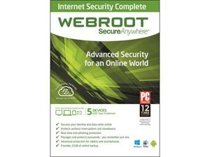 Webroot SecureAnywhere Internet Security Complete 2014 - 5 Devices