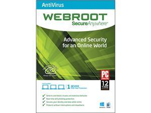 Webroot SecureAnywhere AntiVirus - 1 Device - Download