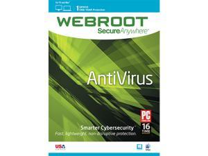 Webroot AntiVirus 2015 1 Year 1 Device PC - Download