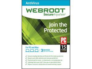 Webroot AntiVirus 2015 3 Device 2 Year  - Download