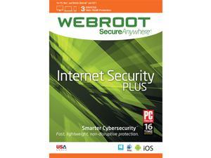 Webroot SecureAnywhere Internet Security Plus 3 Device 2 Year - Download