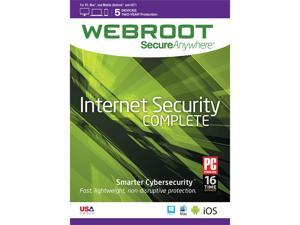 Webroot SecureAnywhere Internet Security Complete 5 Device 2 YEAR - Download