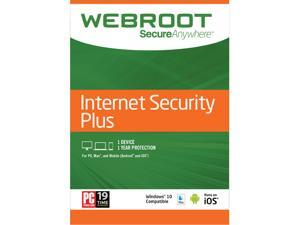 Webroot Internet Security Plus 3 Devices 1 Year