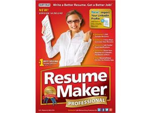 Individual Software ResumeMaker Professional Deluxe 18