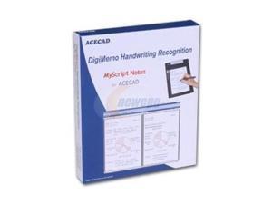 SolidTek Acecad Myscript Note Converts DigiMemo Handwriting Recognition