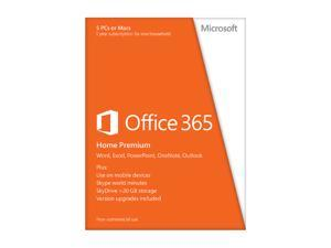 Microsoft Office 365 Home Premium 5 Devices - 1 Year Subscription