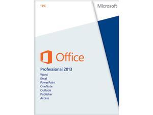 Microsoft Office Professional 2013 Product Key Card - 1 PC